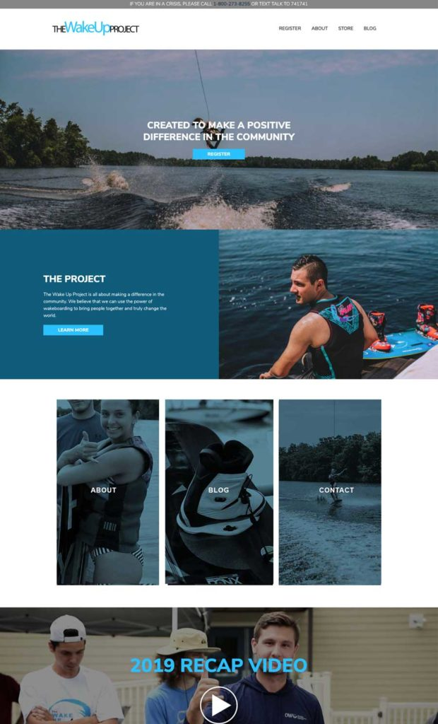 the wake up project wordpress website design